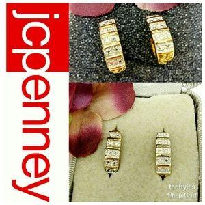 JCPENNEY-NWOT Real Diamond Hug Earrings